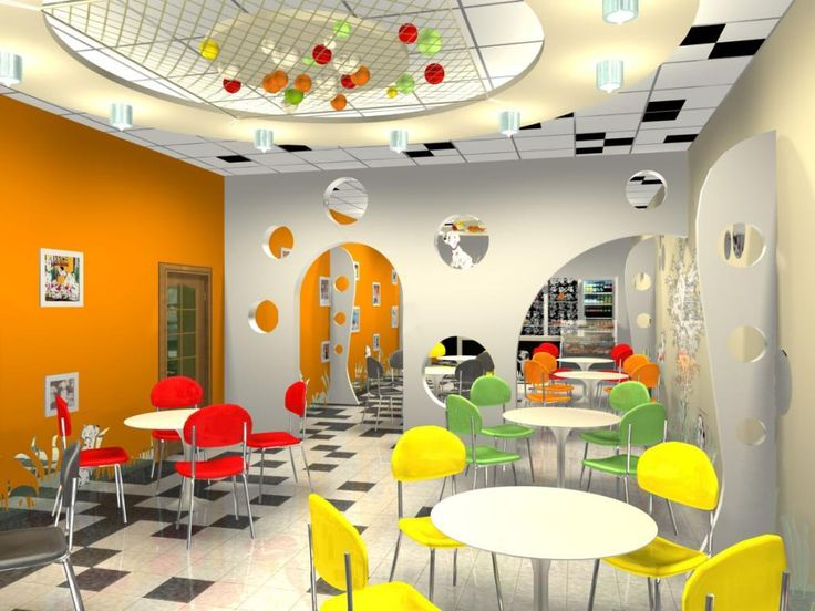 http://taizh.com/wp-content/uploads/2014/11/Interesting-cafe-interior-design-with-white-round-table-and-colorful-chair-also-black-white-tile-floor-and-orange-painting-wall-decoration-including-modern-partition-ideas.jpg