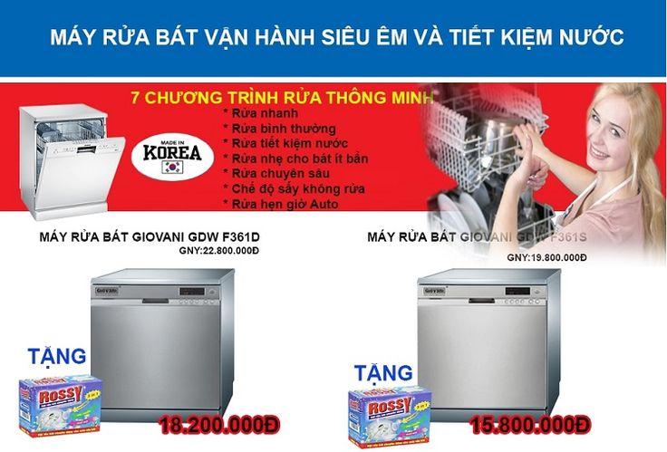 Khuyến mãi khủng cho máy rửa bát Giovani: