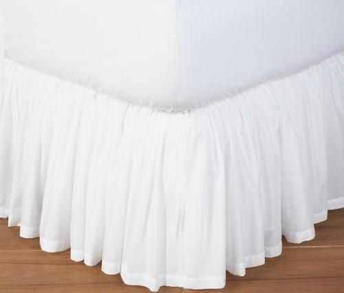Extra Drop King Size Dust Ruffle Bed Skirt Solid 800 TC Egyptian Cotton #Scala #Modern