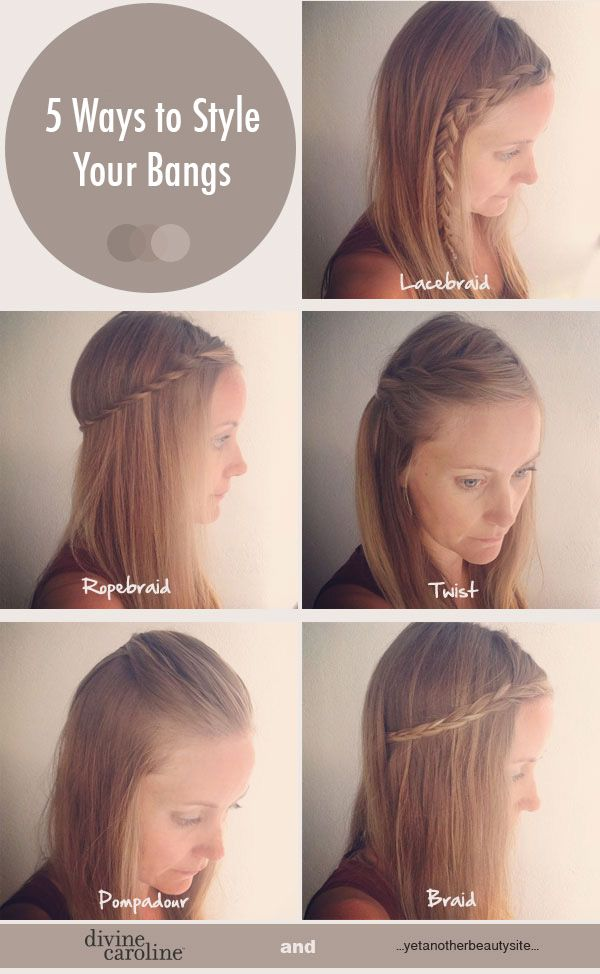 5 Quick and Easy Ways to Style Your Bangs | Divine Caroline. Cute! Cute! Cute!