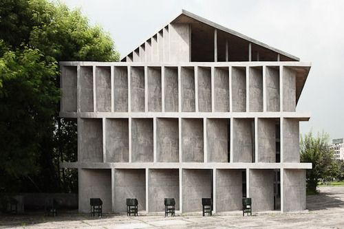 Le Corbusier,Tower of Shadows,Chandigarh