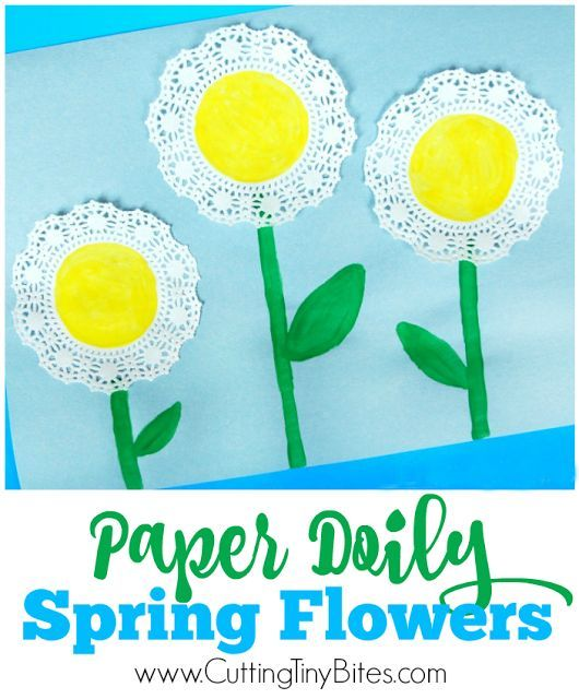 Sweet and simple spring flower craft for toddlers and preschoolers.