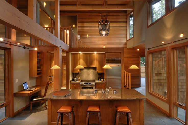 Canadian Timber Frames, kitchen similar to what we are planning, except a little more open to the great room.