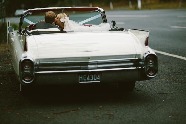 Hunter Valley Cadillacs wedding cars. Image: Cavanagh Photography http://cavanaghphotography.com.au