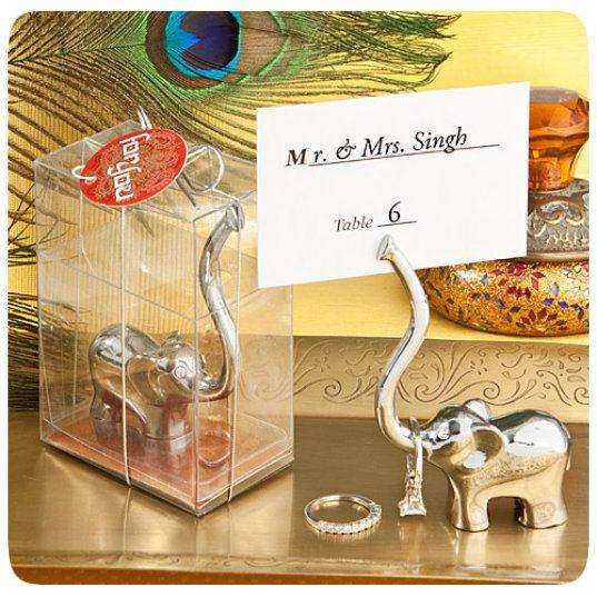 majestic elelphant place card holderphoto holder favors indian wedding