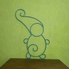 A commander : petit lutin vert en fer forgé pour décoration. idée cadeau