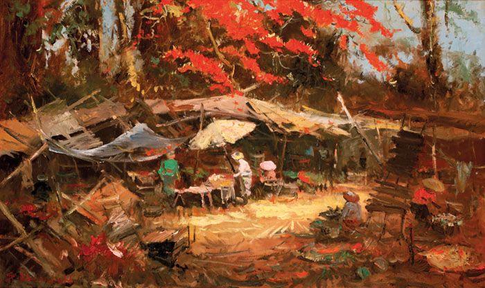 Sudjono Abdullah (Yogyakarta, 1911 – 1993) -  Pasar Tradisional