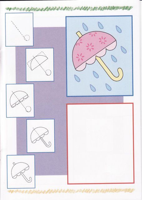 How-to Draw an Cute Umbrella / Rainy Day Scene!