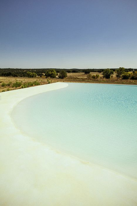 Photos: Portugal's Beautiful Alentejo Region Has It All - via Condé Nast Traveler 07.03.2015 | Written by Guy Trebay, Photographed by Matthieu Salvaing | Photo: The zero-entry swimming pool at Casa No Tempo.