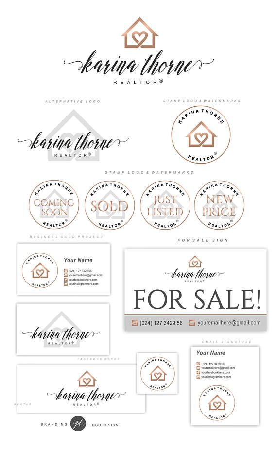 Real Estate logo design Realtor logo Key logo House logo