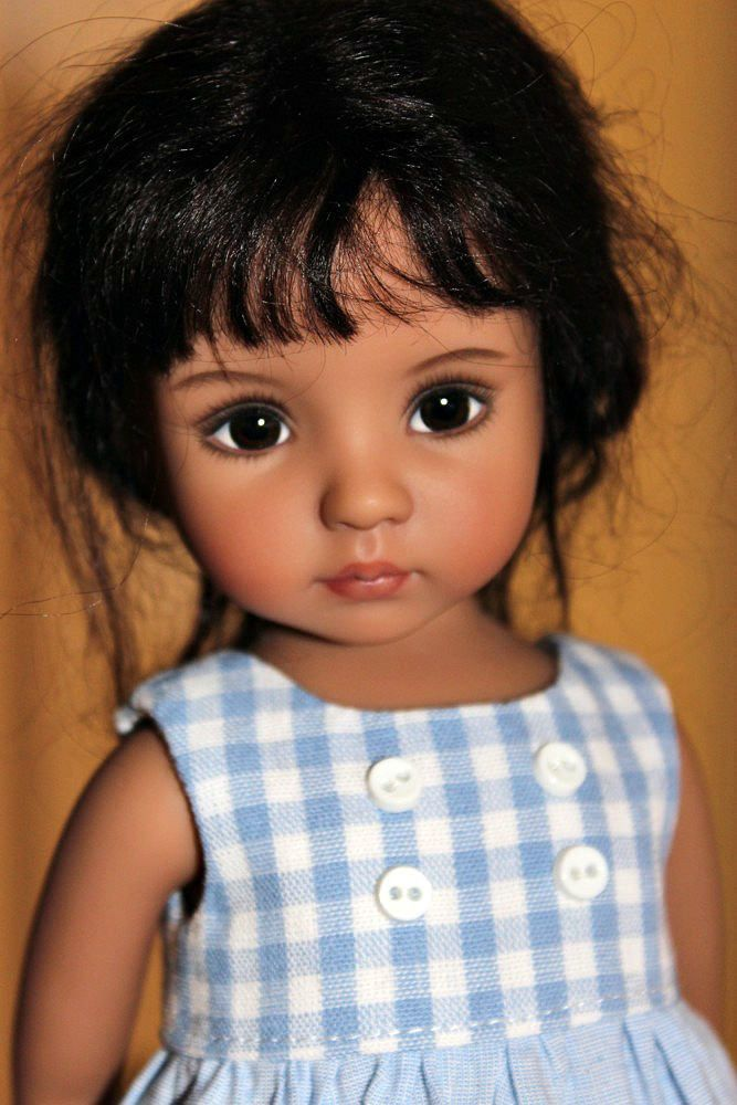 https://flic.kr/p/GUTxuJ | Tanned Little Darling #1 sculpt | Handpainted by Lana Dobbs....my little Spanish girl.