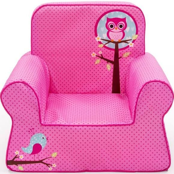 Marshmallow Comfy Chair Pink Owl Toddler Davidson