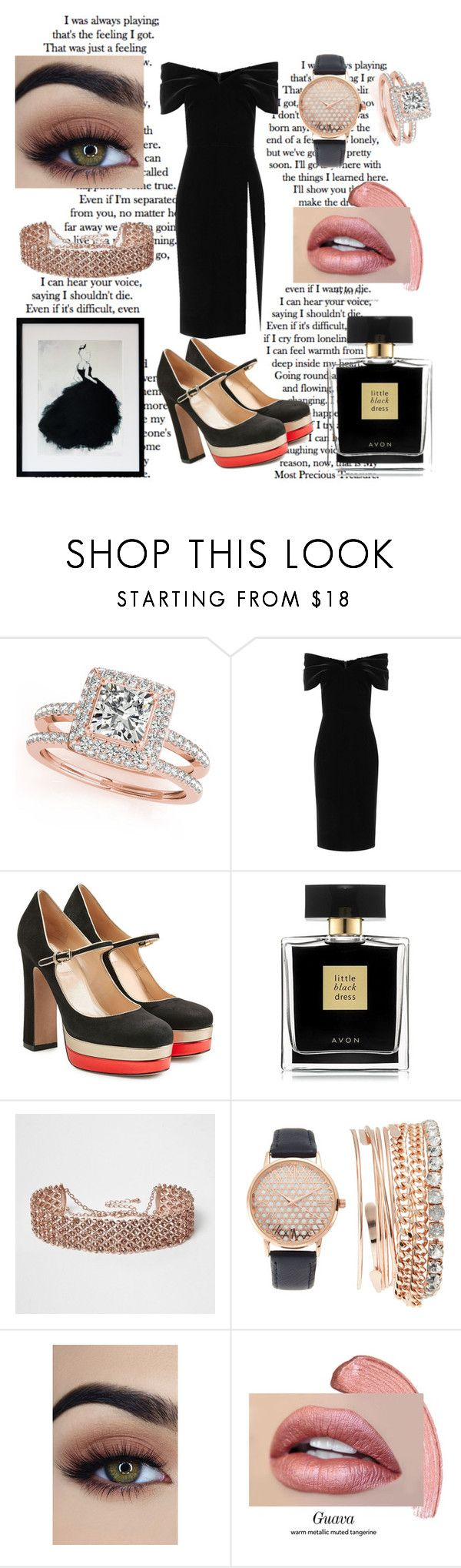 """Little Black Dress"" by spookie1 ❤ liked on Polyvore featuring Allurez, Emilio De La Morena, Valentino, Avon, River Island and Jessica Carlyle"