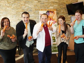 Bradfordlicious - BWG Events Group's Ricky Brooks (second from left) joined Summerlyn Dental Care's Sonia Reis (from left), Dr. Zaid Baraz, Erika Mokry and Shannon Robson in preparing for the upcoming Bradfordlicious Festival. Summerlyn Dental Care is the presenting sponsors of the event.