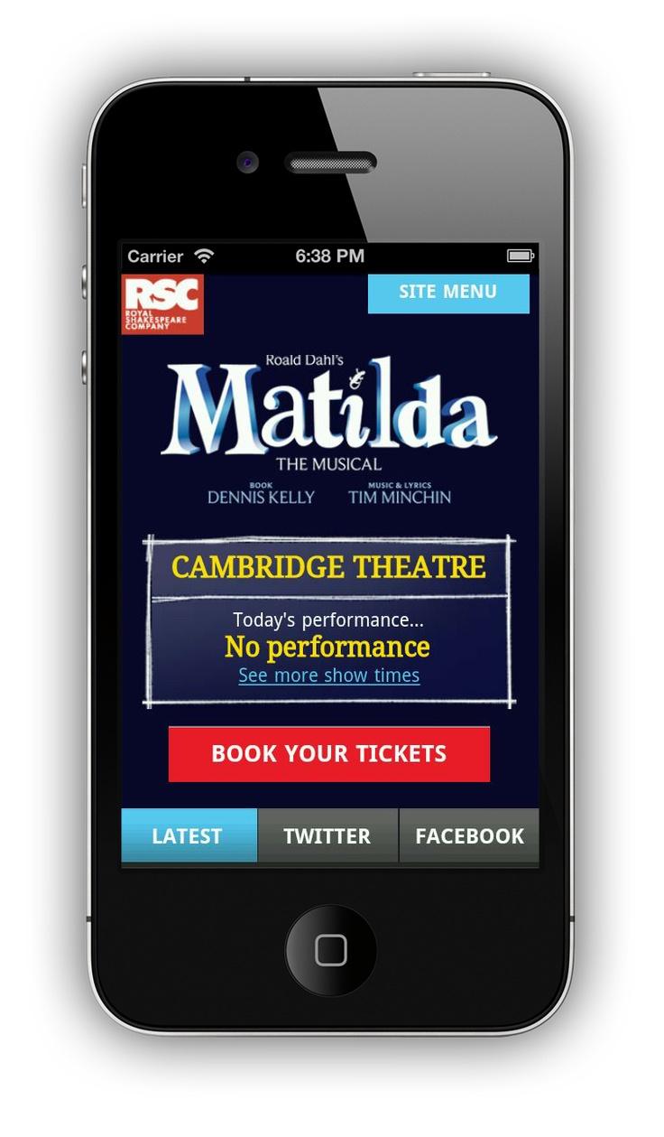 Matilda UK mobile website - Responsive design    ----BTW, Please Visit:  http://artcaffeine.imobileappsys.com