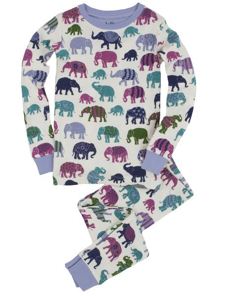 Hatley Dívčí pyžamo - barevní sloni