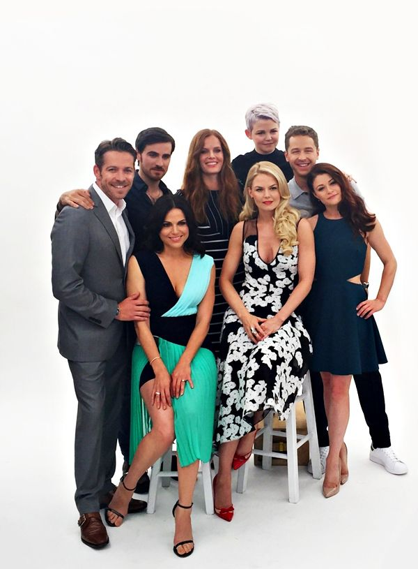 This is a group of beautiful people.  Once Upon a Time Cast - SDCC 2015