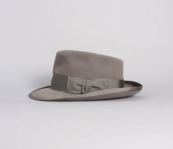 50s WHIPPET Royal Stetson FEDORA / Grey Fur Felt by LuckyDryGoods, $195.00