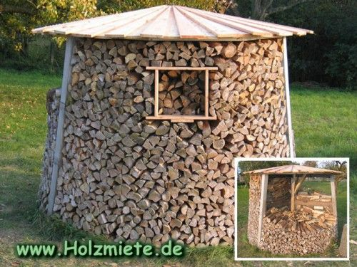 Build a Holz Miete (which is a very very pretty woodstore indeed)