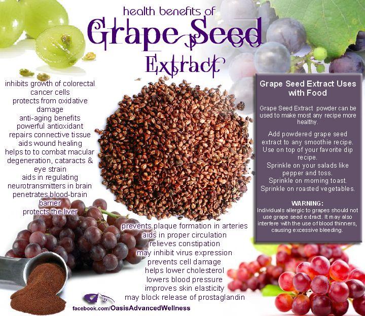 Health Benefits of Grape Seed Extract  Like us at www.facebook.com/OasisAdvancedWellness