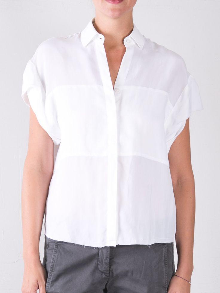 Cupro Danny Roll Slv Shirt / White