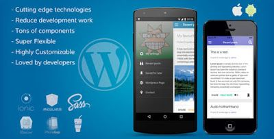 ionWordpress - Wordpress full Integrated mobile app