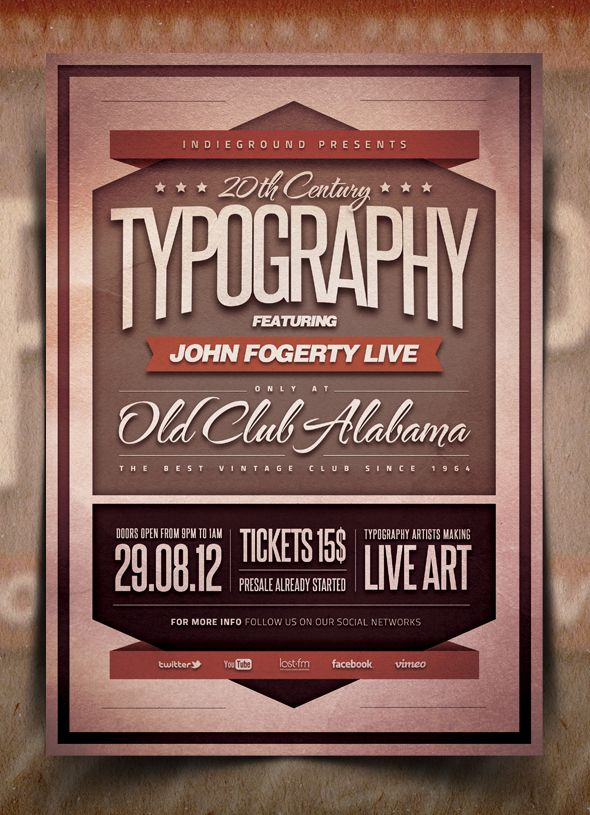 89 best images about Event Logos – Retro Flyer Templates