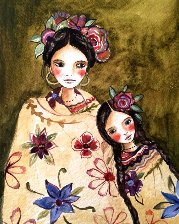 Mayan folktales 4 mother and daughter by Claudia Tremblay