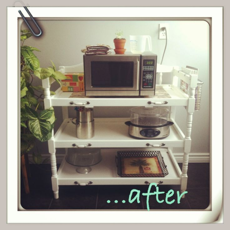 Baby change table turned into a kitchen stand! To see more of our DIY products, visit www.bayfurniturerevival.blogspot.ca