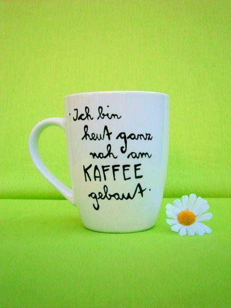 Tasse Ich bin heute ganz nah am KAFFEE gebaut von hochdietassen via dawanda.com