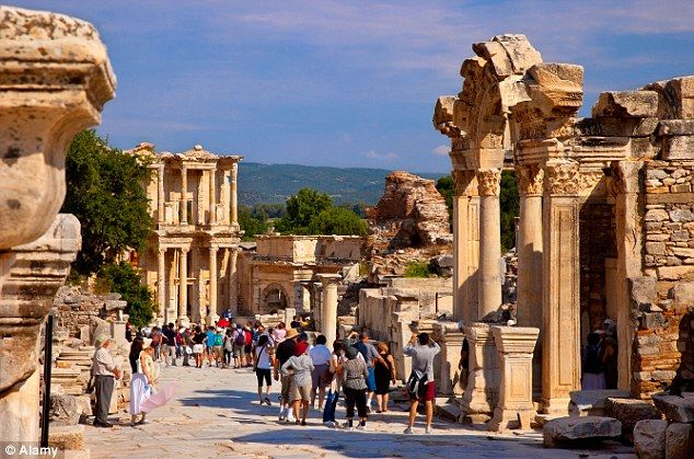 Ephesus, Turkey 2014 I walked the marble-paved street of Curetes near the Temple of Hadrian and Library of Celsus in Ephesus.