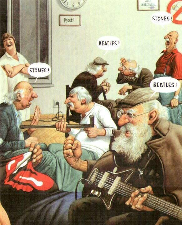 this will be my dad when he's in a retirement home (Beatles!) ;)