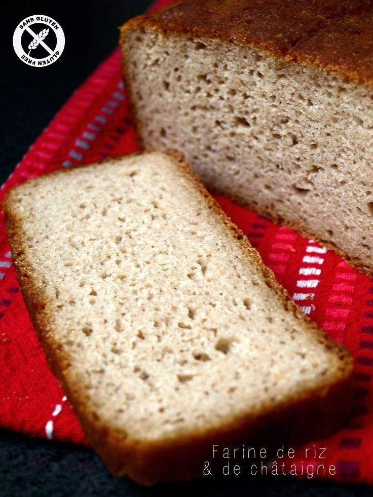 Pain sans gluten à la farine de riz et de châtaigne (tranché)