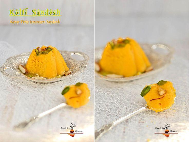 Kulfi Sandesh Ice Cream Sandesh Bhapa Sandesh Kesar Pista Kulfi Malai Sondesh Recipe Food Processor Recipes Kulfi Food Recipes