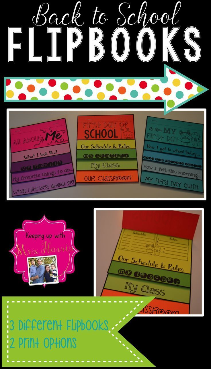 Want to start your back to school week off with loads of fun and teachable moments? This pack of 3 different flip books will have your students engaged, focused and ready for a fantastic school year. All you have to do is print! There are three different flip books: First Day of School, All About My First Day, and All About Me. The two print options allow paper saving options for colored paper or white paper. Have an idea for a flipbook you would like to see added? Comment in the Q&A…