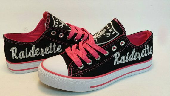 Oakland Raiders/Raiderette Pink Canvas Shoe by BellaReyna2012