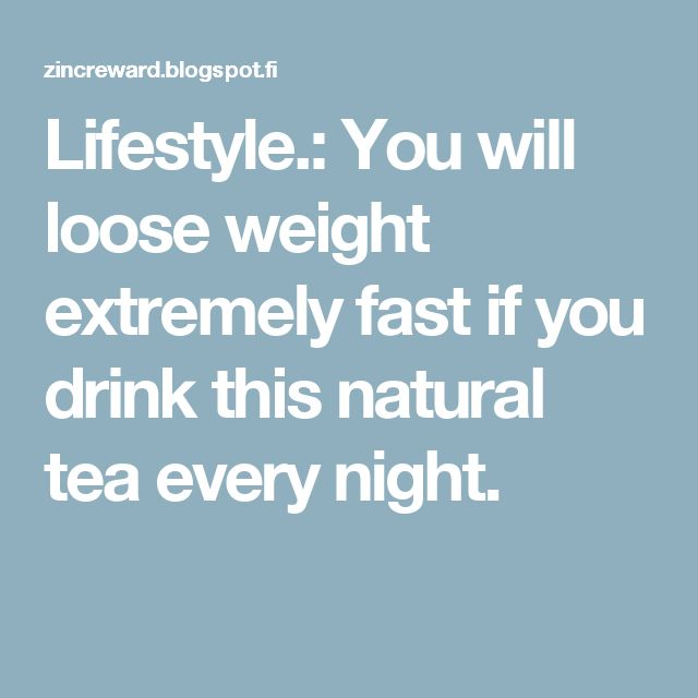 how to drink every night and lose weight