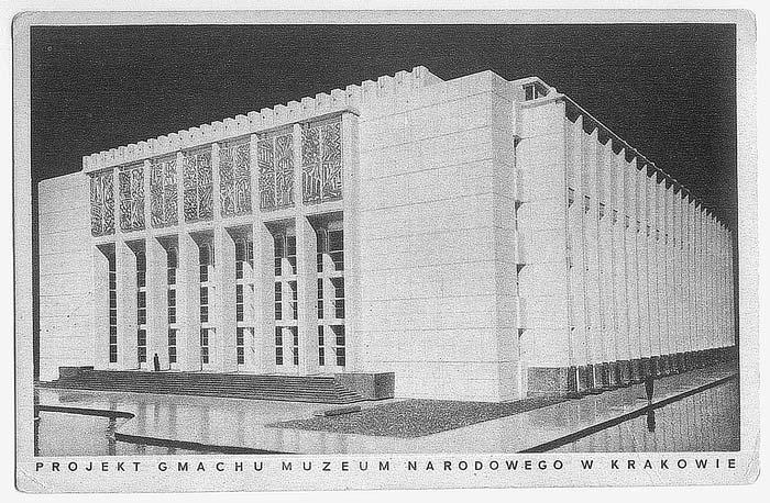 Model Nowego Gmachu Muzeum Narodowego u zbiegu alei 3 Maja i alei Mickiewicza (arch. Czesław Boratyński, Edward Kreisler, Bolesław Schmidt, bud. 1934-1938)