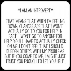 A misunderstood introvert. Click on the picture to read about how introverts can be misunderstood!