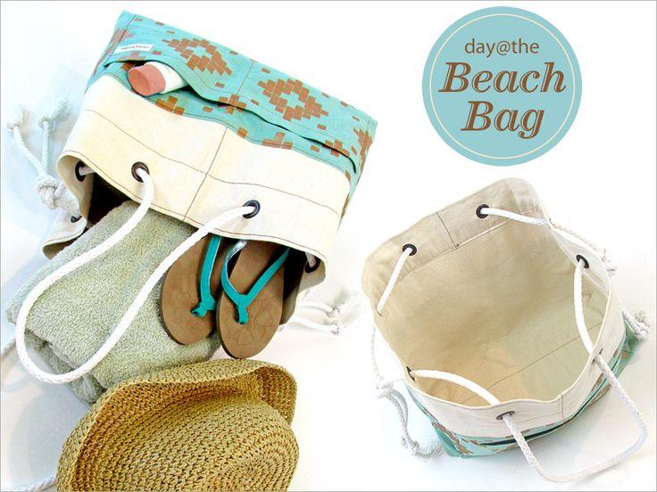 tuto sac de plage avec poignée en cordeSew4Home