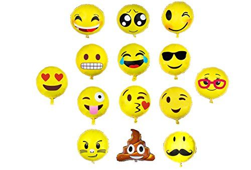 Our Emoji Party Balloons will be a instant hit at any of your party and event with your guest!!! They will provide marvelous opportunity for photography and memories in the making. ★ Stylish Design 14 cute and stylish emoji design!! The cool sunglass, hearty eyes, winky kiss, cheeky tongue, laughing tears, winky eye and cheeky …