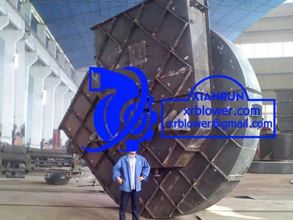 Large Centrifugal Fan for Power Plant Boilers by Xianrun Blower, www.lxrfan.com, xrblower@gmail.com  FD Fan: Supply air for boiler combustion;   Primary Air Fan: Drying and delivery pulverized coal to furnace;  ID Fan (Exhaust Fan): Exhausting out the smoke from boilers.   In general, 50% capacity allocation, so double large centrifugal fans works together in power plant boilers.