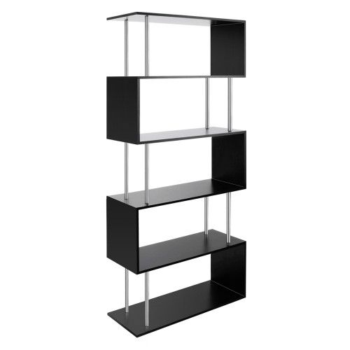 Cheap 5 Tier Display Book Photo Frames Decoration Home Office Storage Shelf Unit Black