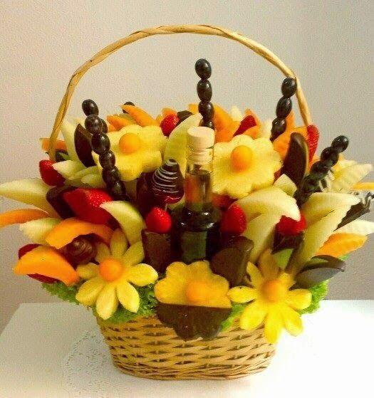 Ovocné kytice Frutiko blog: I muži milují ovoce a čokoládu