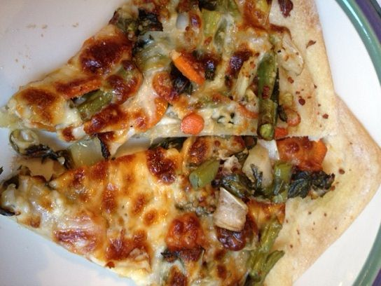 Bok Choy Carrot Pizza B | Food & Drink | Pinterest