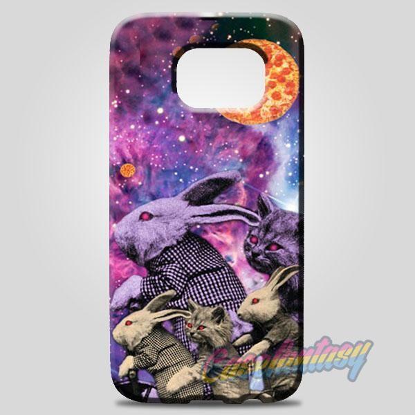 Purple Pizza Galaxy Bunnies & Cats Samsung Galaxy Note 8 Case | casefantasy