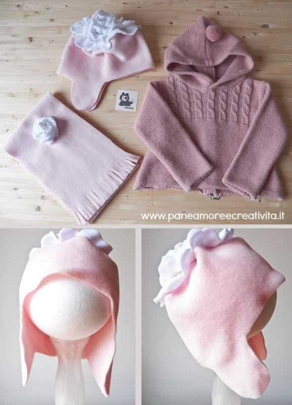 Tutorial: come fare cappello e sciarpa di pile per i bambini - Pane, Amore e Creatività | Pane, Amore e Creatività