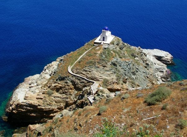 Church of Seven Martyrs, the most famous church in Sifnos