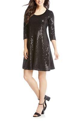 6c3602dd46e8 KAREN KANE Designer Sequin Embellished Sweater Dress | Avivey (Style ...