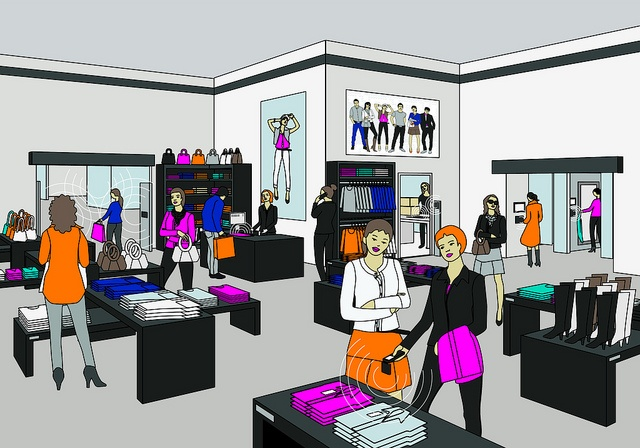 Specialty Retail Store Drawing by House of RFID, via Flickr